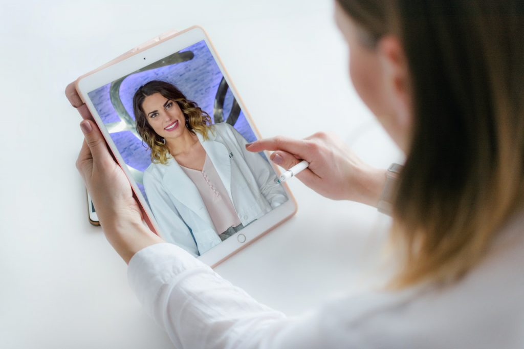 Image of Dr. Medwed in an ipad